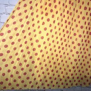 Everly Skirts - Everly Yellow Polka Dot Skirt